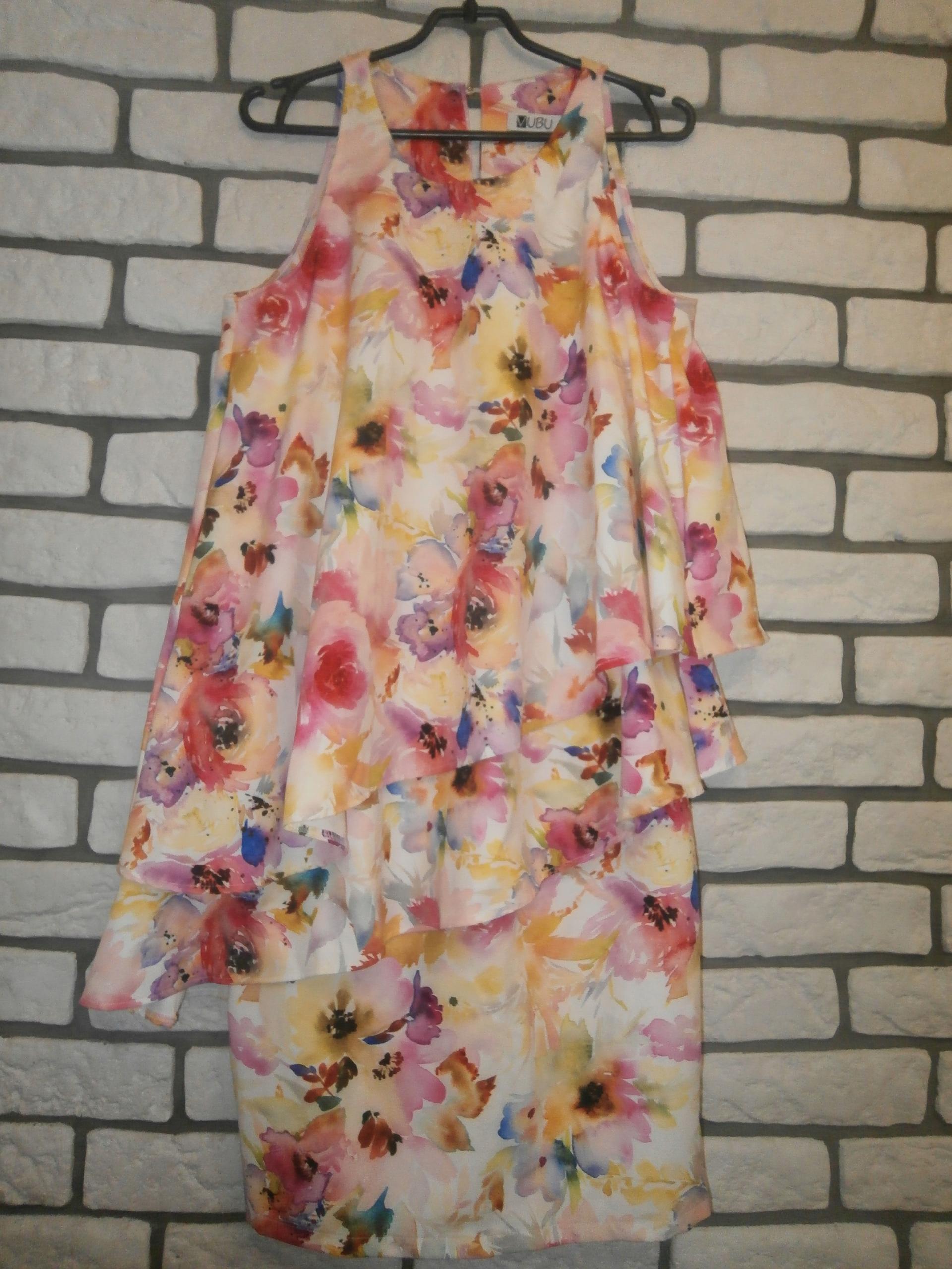 VUBU na wesele kwiecista sukienka z falbanami M