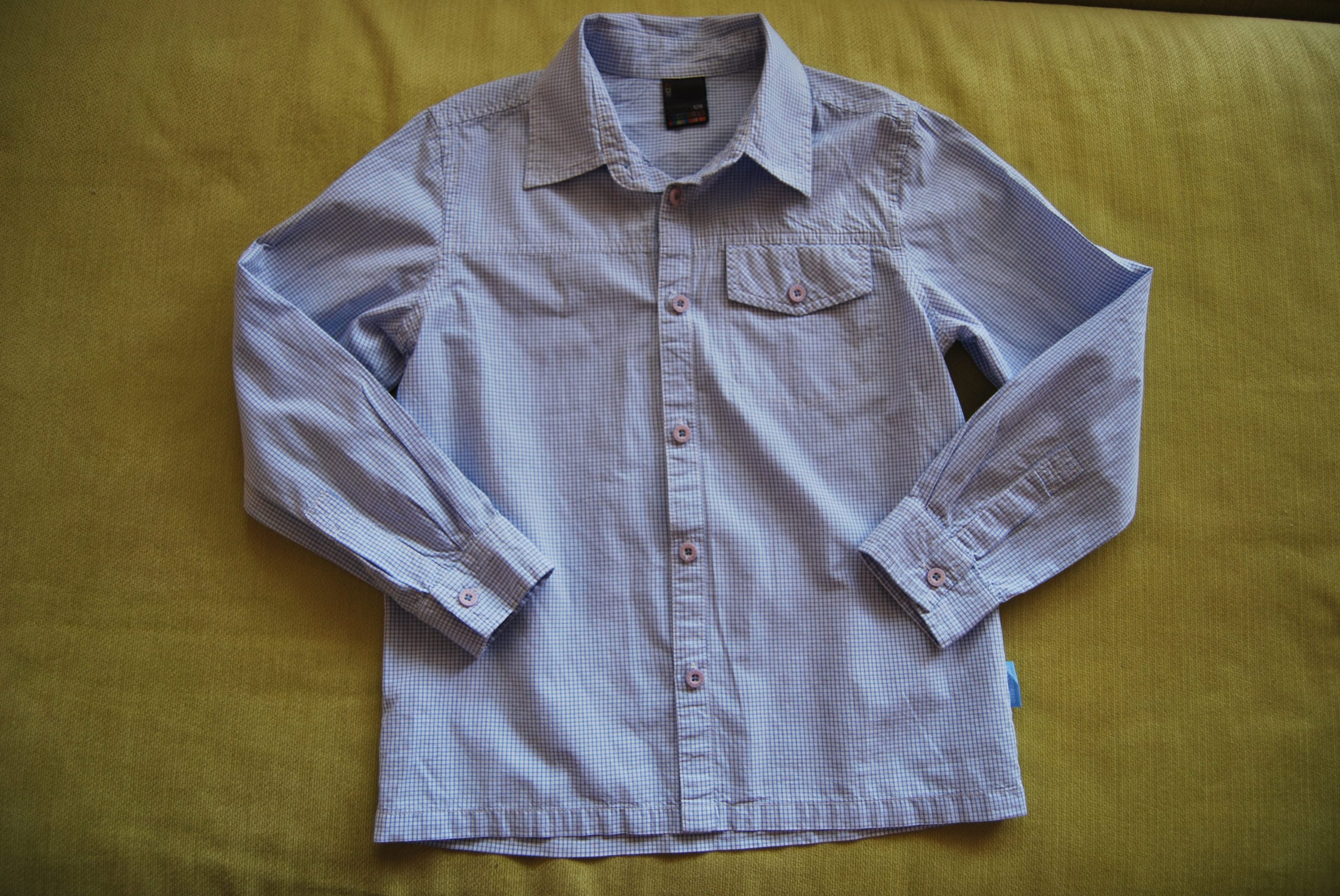 COCCODRILLO koszula W KRATĘ 128 cm 8 lat
