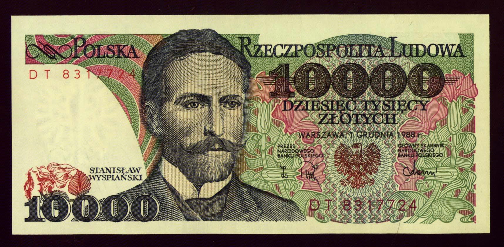 10000zł 1988r seria DT stan UNC !!!