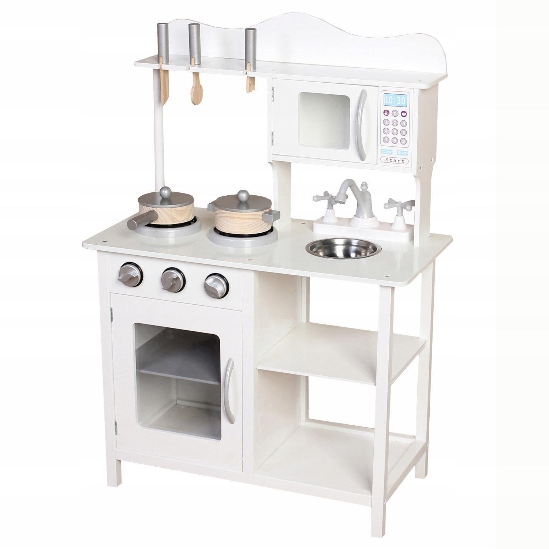 Wielka Biała Drewniana Kuchnia Kacper Dla Dzieci