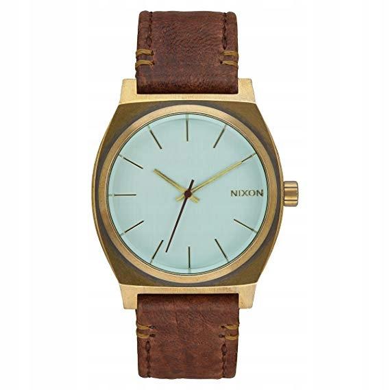 Zegarek Nixon Time Teller brązowy skórzany pasek
