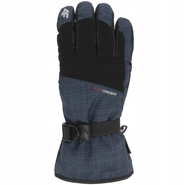 Rękawiczki narciarskie męskie REM002 4F granat. XL