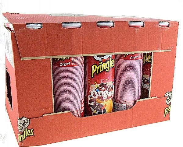 Pringles chipsy w tubie 190g Original karton-19szt