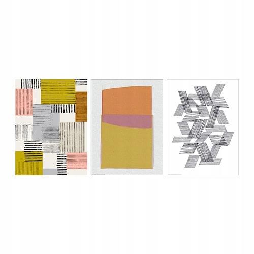Ikea Bild Plakat Wzór 30x40 Cm 3 Szt 7707342926