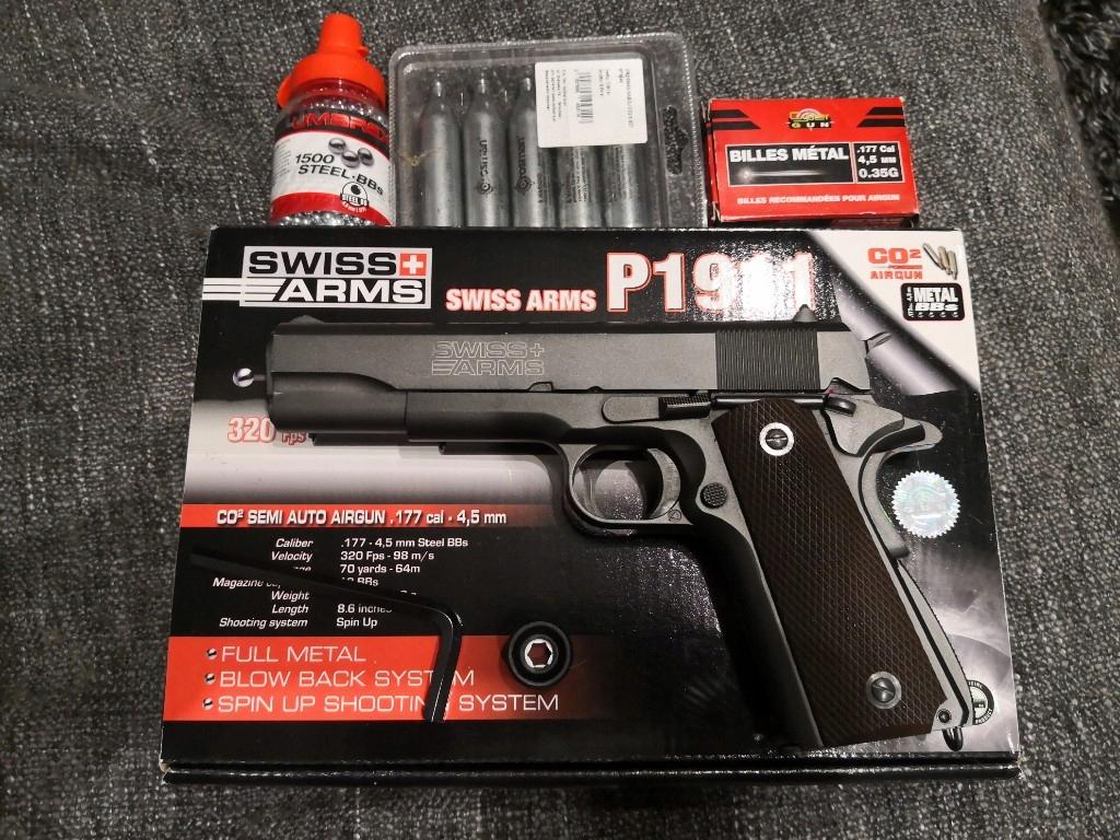 Pistolet Cybergun Swiss Arms P1911 4.5mm BlowBack