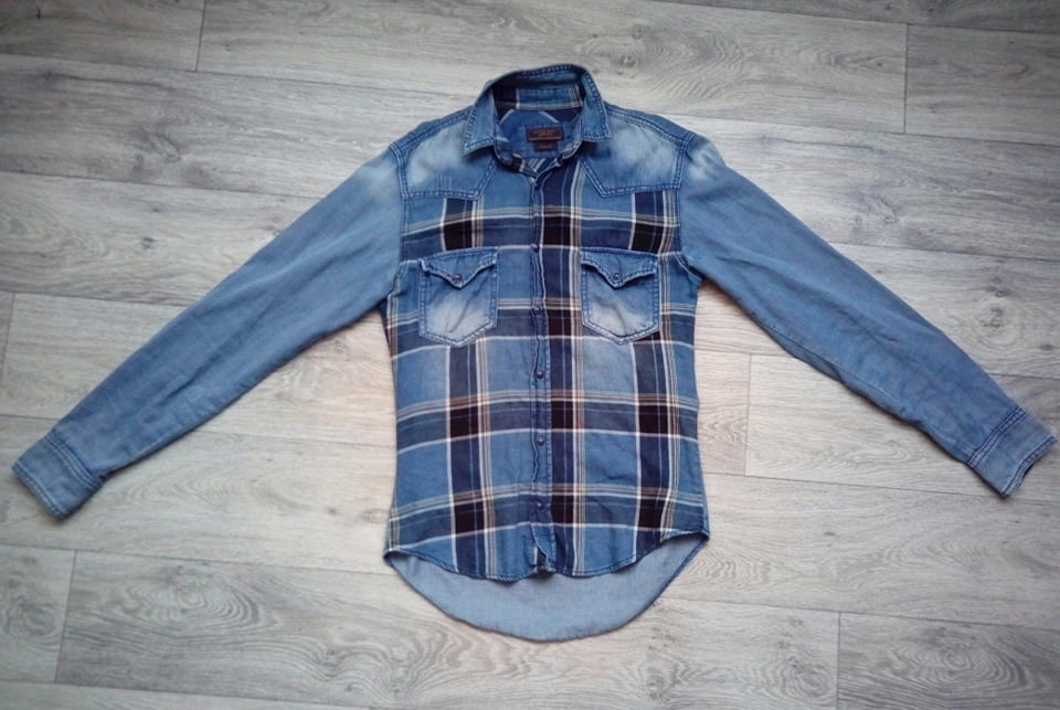 Koszula jeansowa Zara slim fit, rozm. S!
