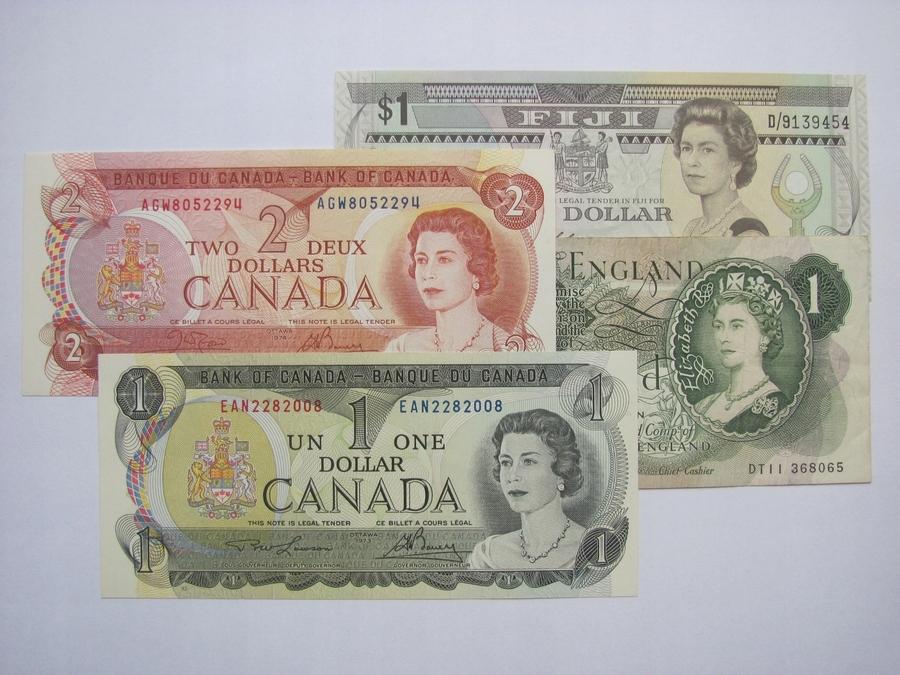 Królowa Elżbieta - zest. banknotów - rzadkie , UNC