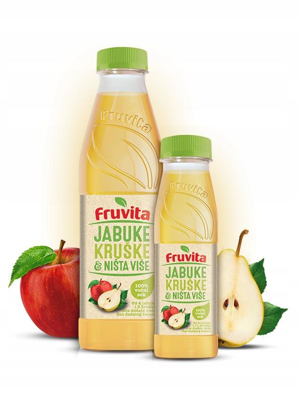 BIO Sok z jabłek i gruszek FRUVITA 750ml