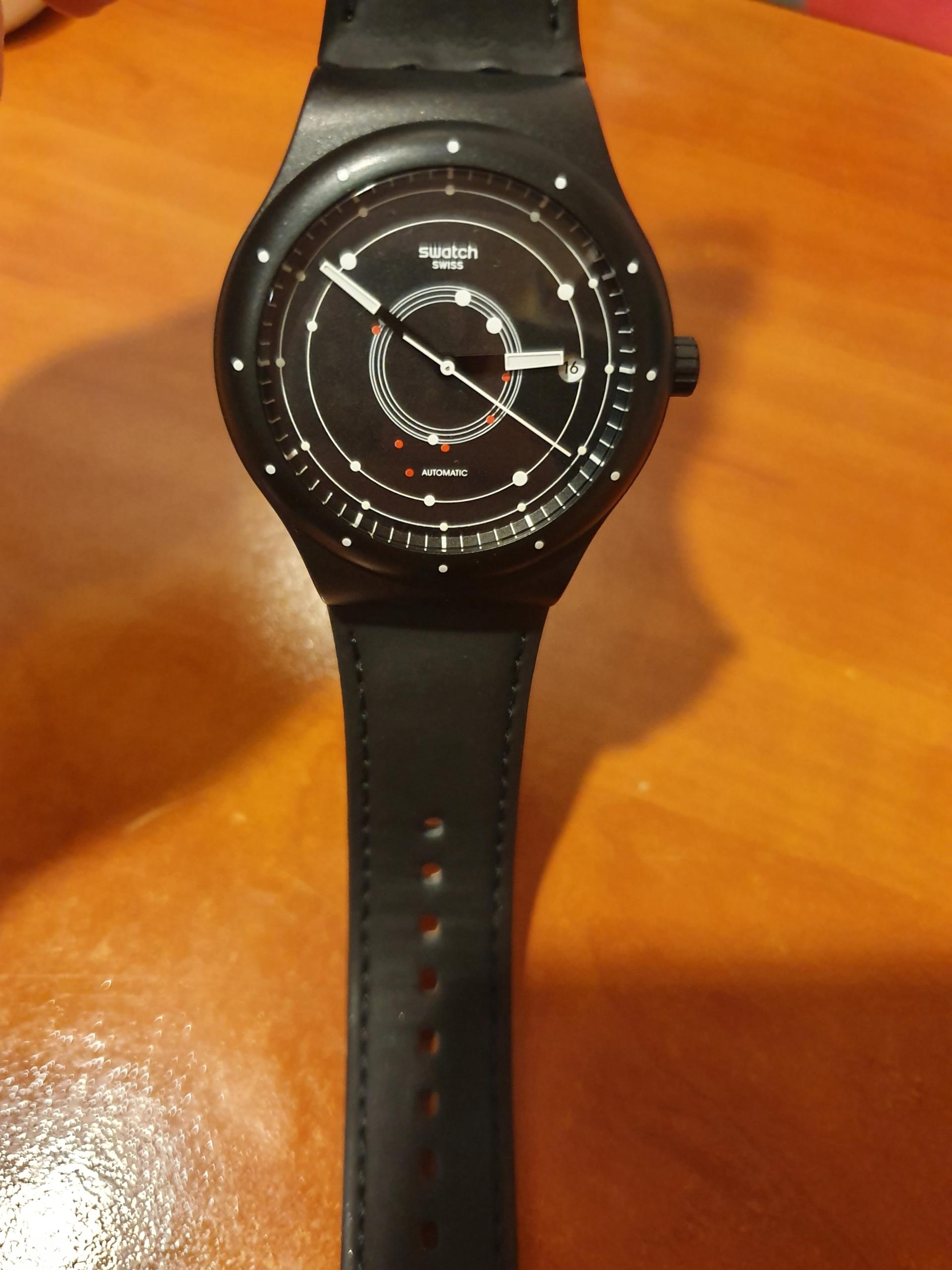Czarny Swatch Sistem51 gw od 10.05.2019 automat