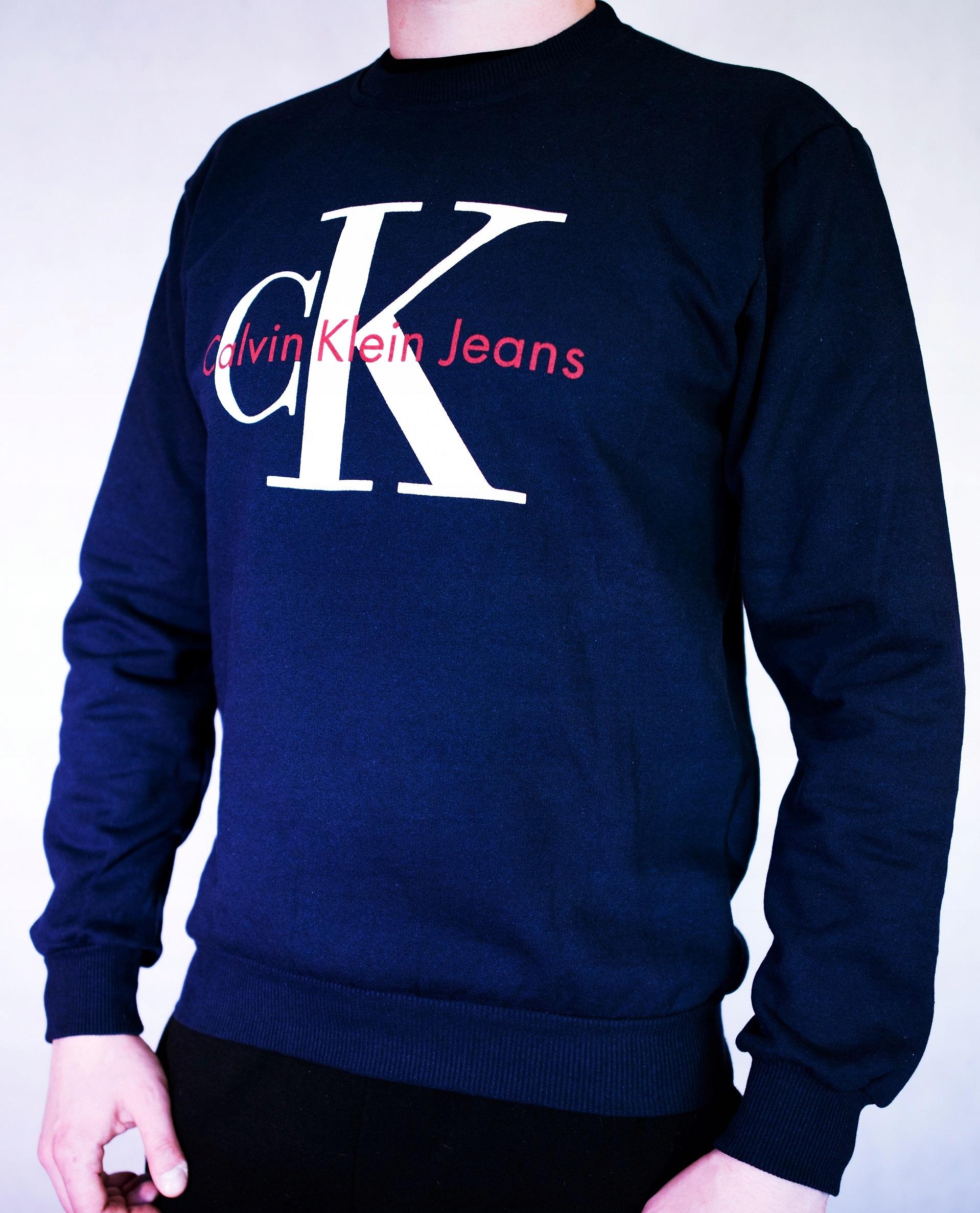 Calvin Klein granatowa bluza 100% BAWEŁNA roz. XL