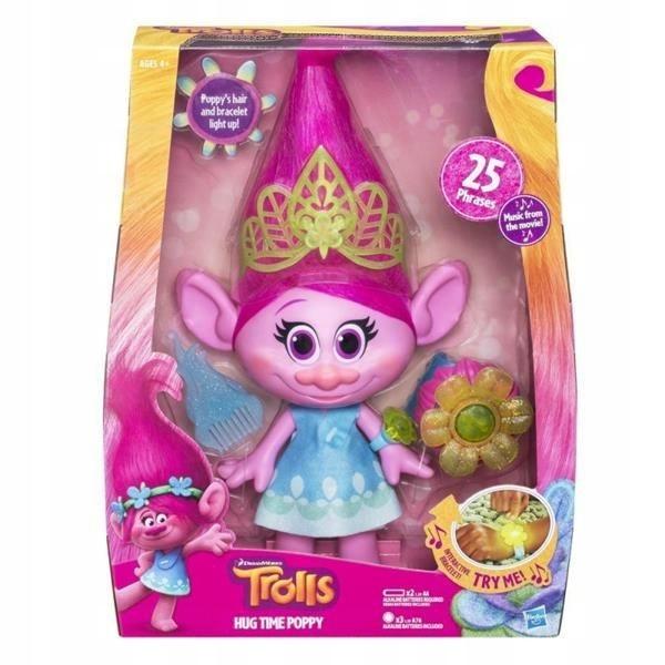 Hasbro Trolls Śpiewająca Poppy B6568 24H*