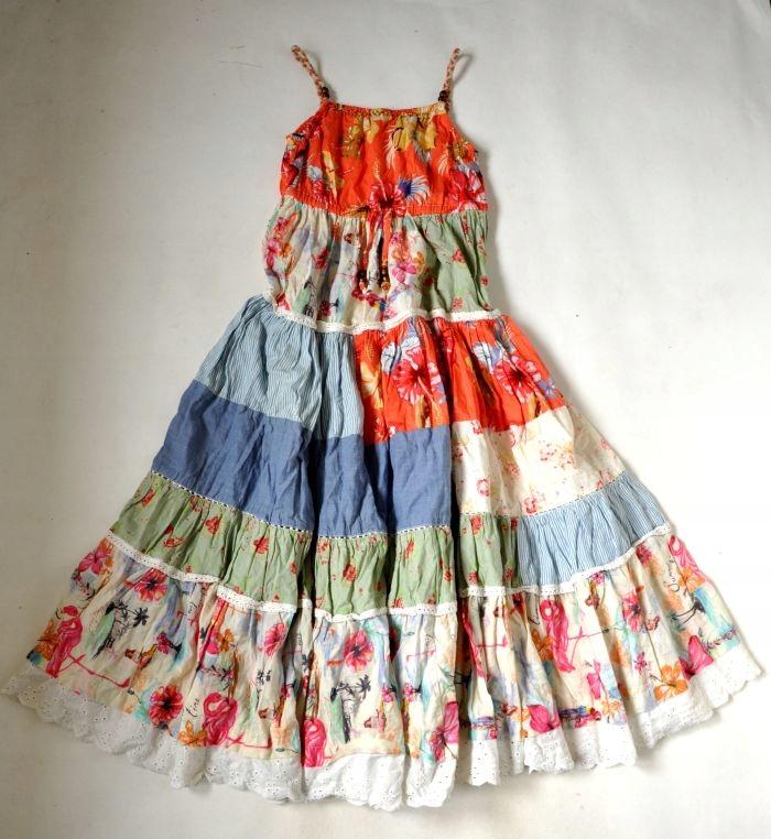 NEXT Sukienka MAxi Długa 9lat 134cm NOWA PATCHWORK