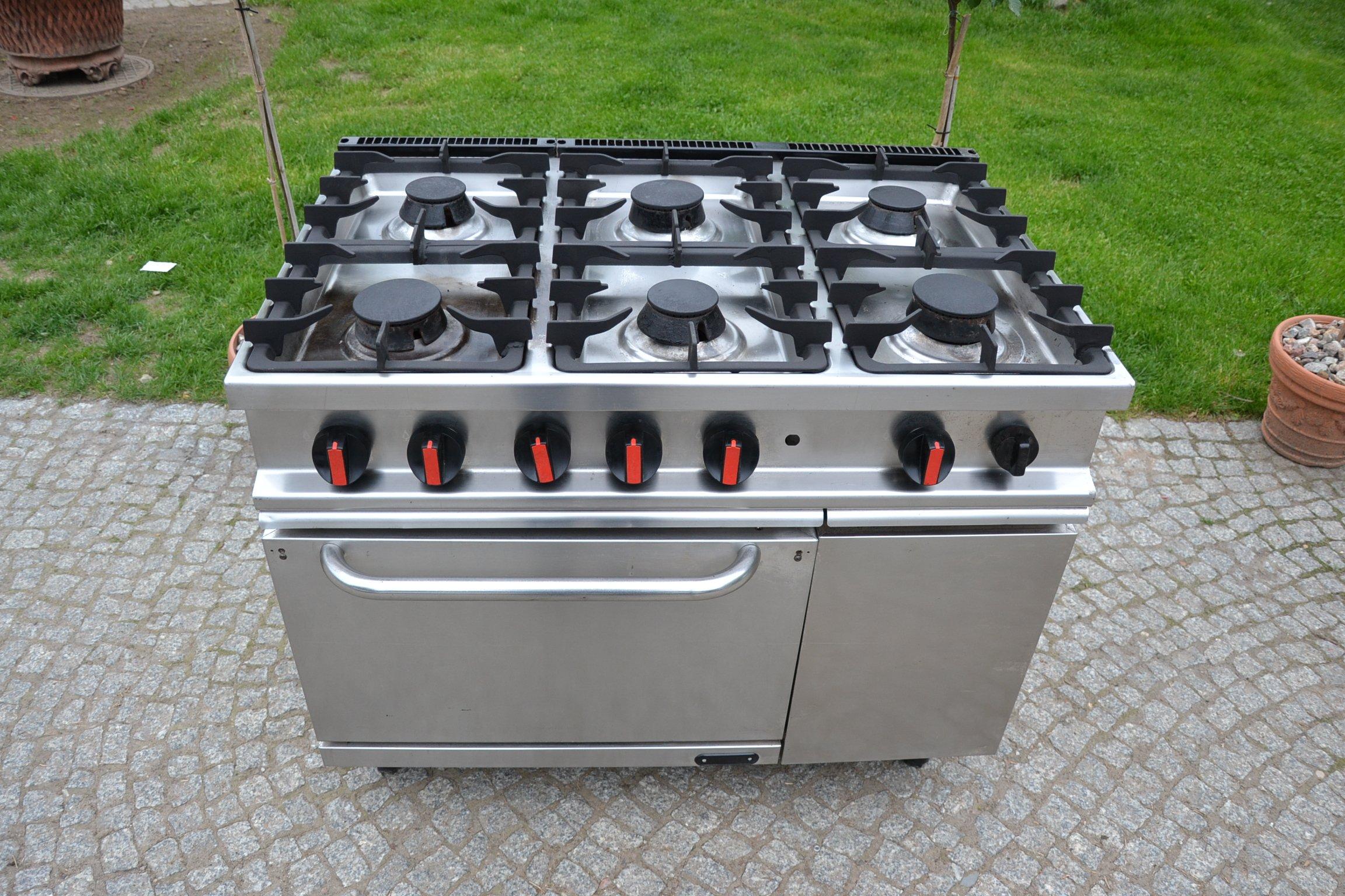 Kuchnia Gazowa 6 Palnikowa Piekarnik Gazowy 105x70