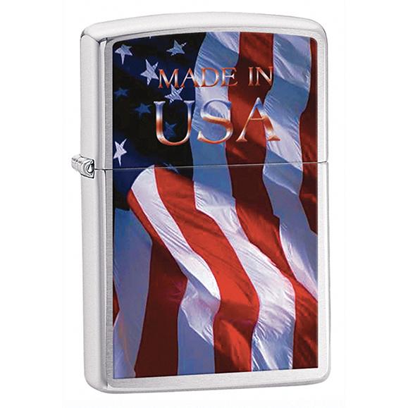 ZIPPO USA FLAG's + benzyna + Twój grawer