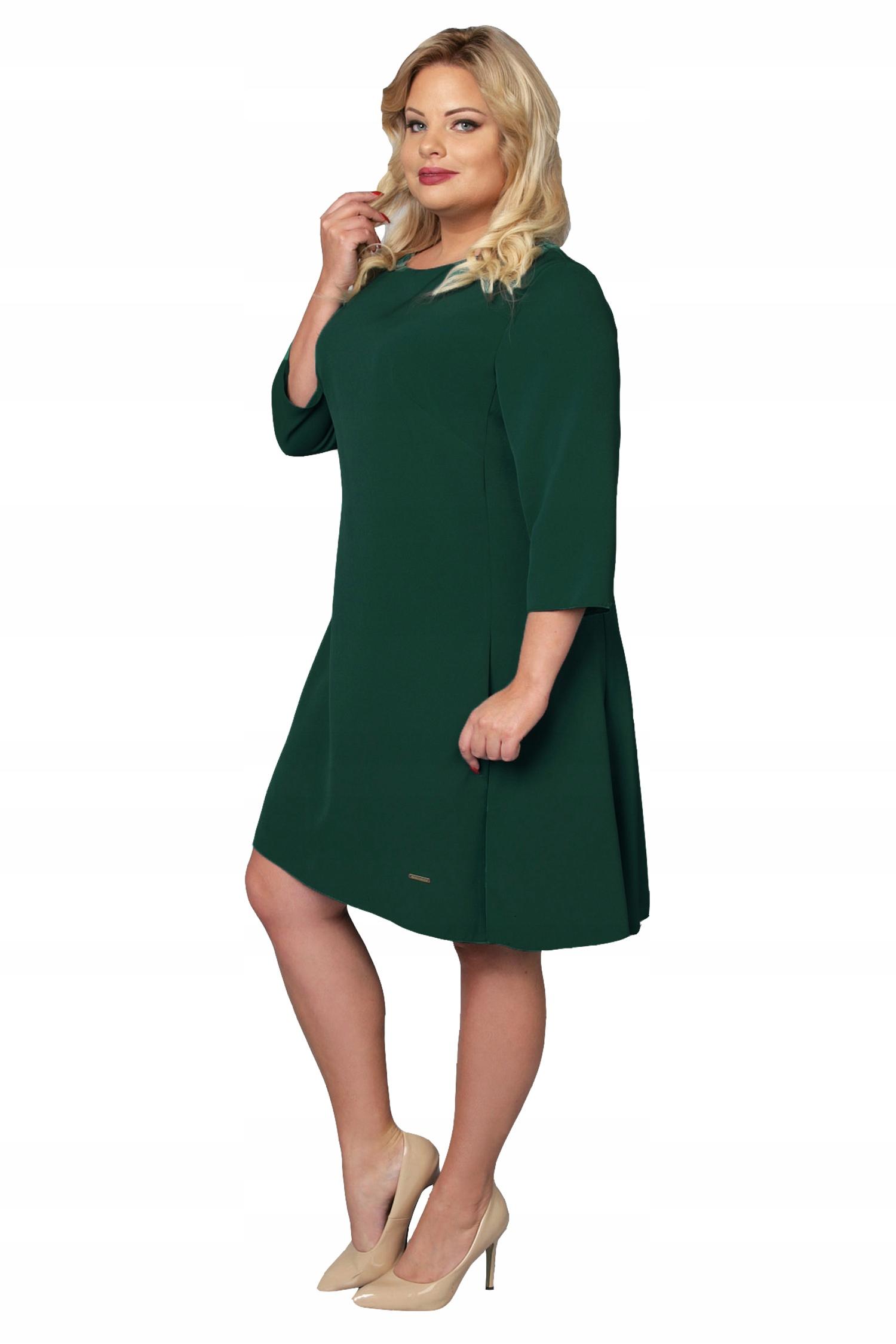 b70501e473 Sukienka BARBIE elegancka trapezowa zieleń 48 - 7537343705 ...