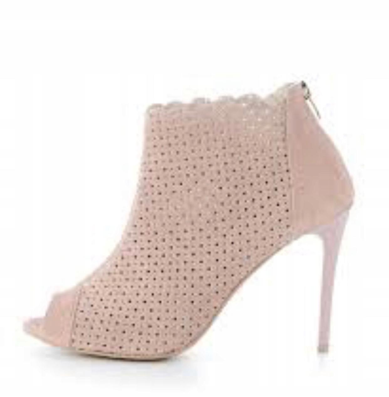 ef3228ae Prima Moda botki open toe ażurowe nude pink Siwiec - 7907659586 ...