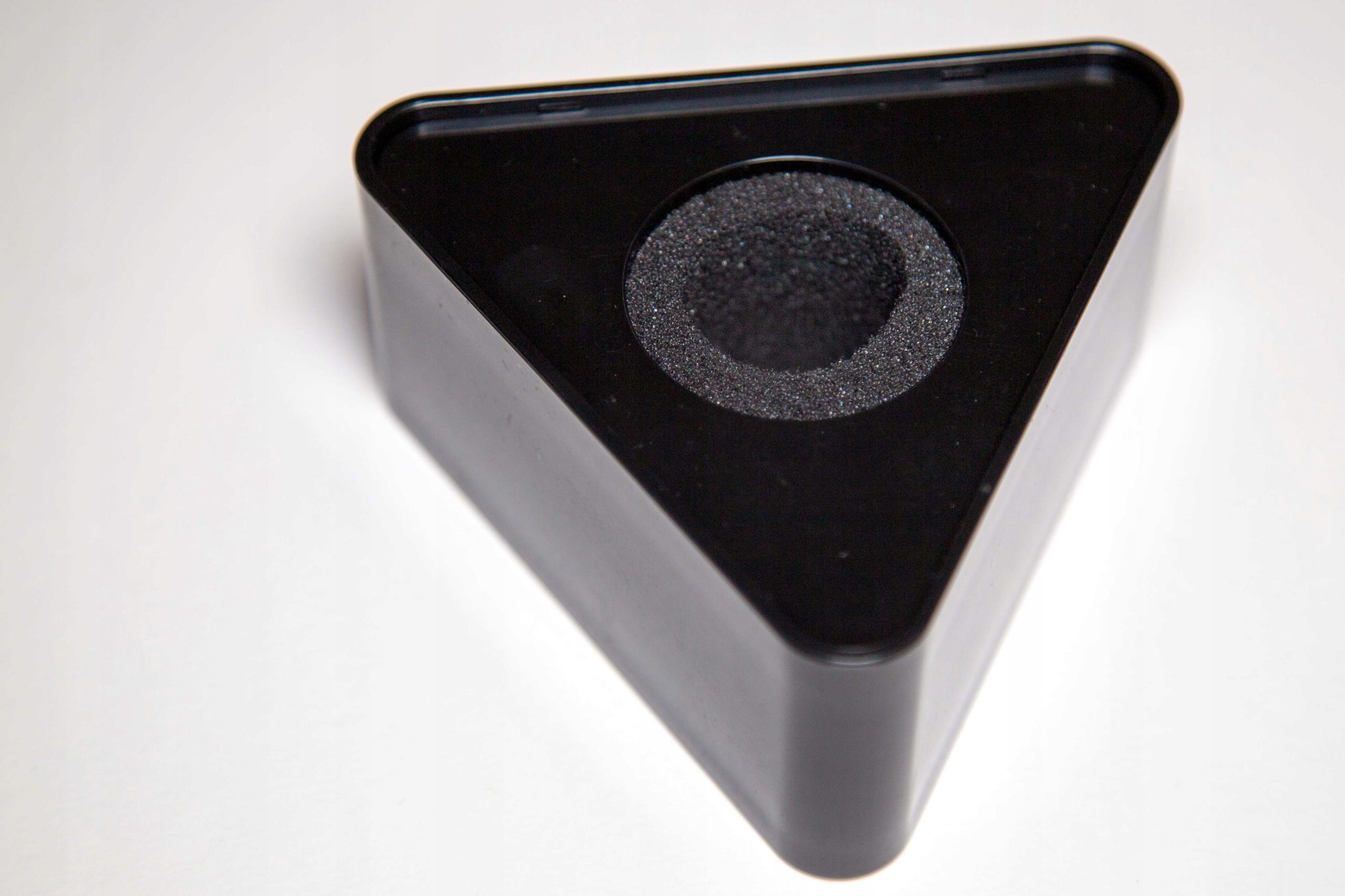 Kostka mikrofonowa | nakładka - trójkątna czarna