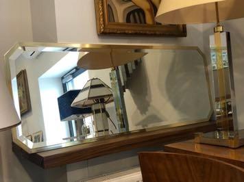 Schoninger stare mosiężne lustro 130/50 cm lata 70
