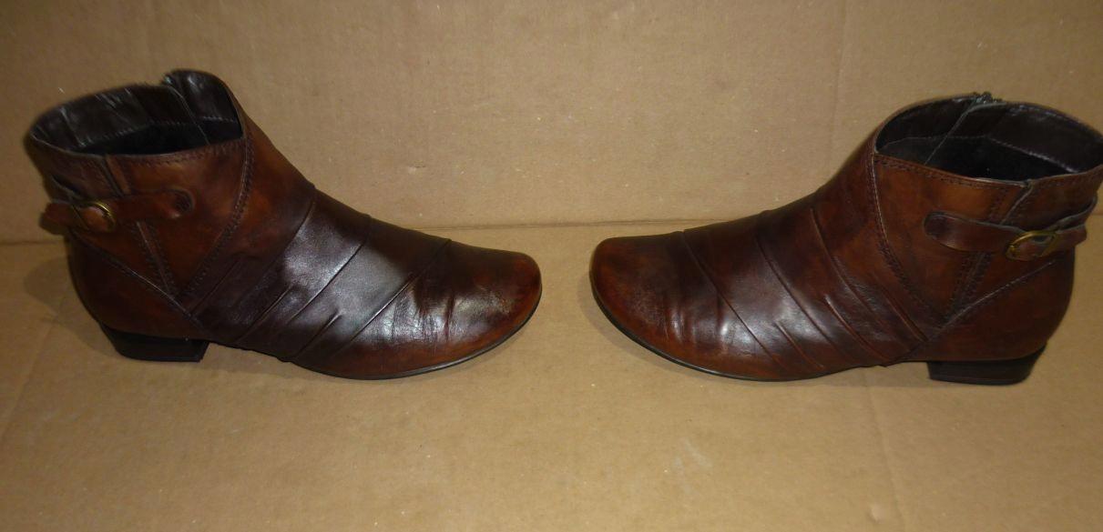 Caprice botki buty damskie zimowe 25306 brązowe