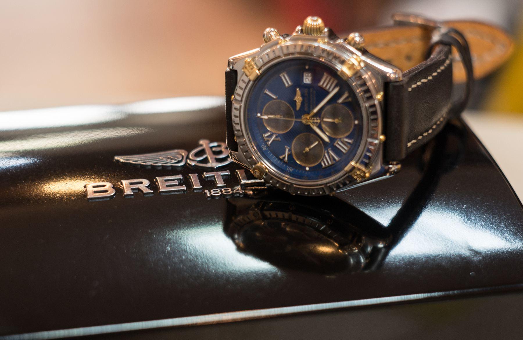 Breitling Crosswind A13355 złoto + stal ORYGINAŁ