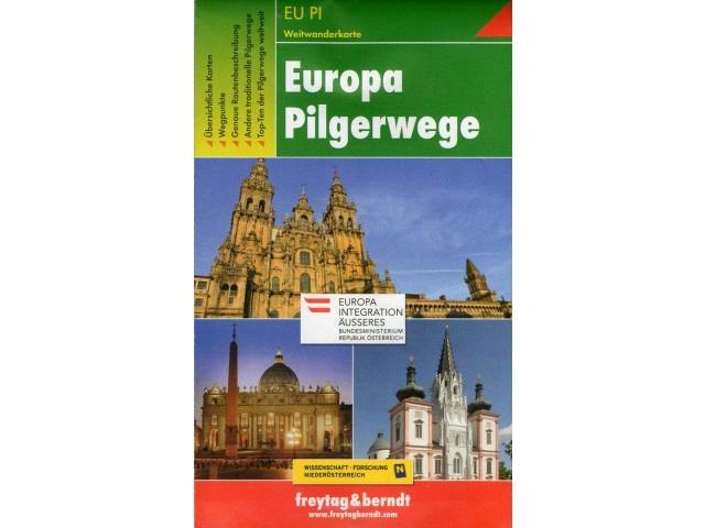 Europa Pilgerwege - trasy pielgrzymkowe - mapa FB