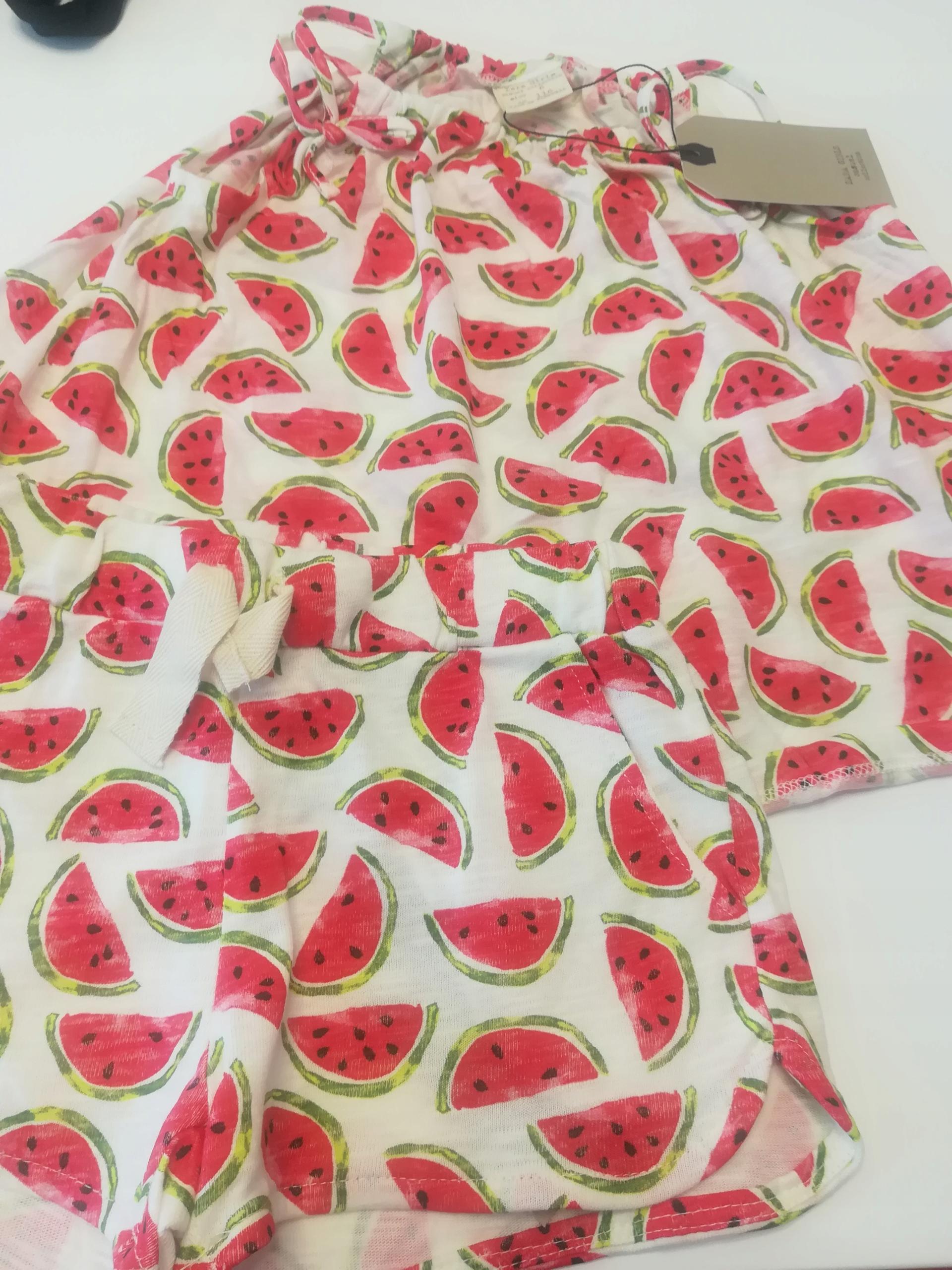 ZARA dziewczynka komplet spodenki koszulka 116