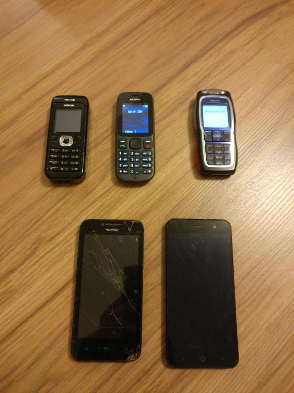 Zestaw 3x nokia + 2 smartfony
