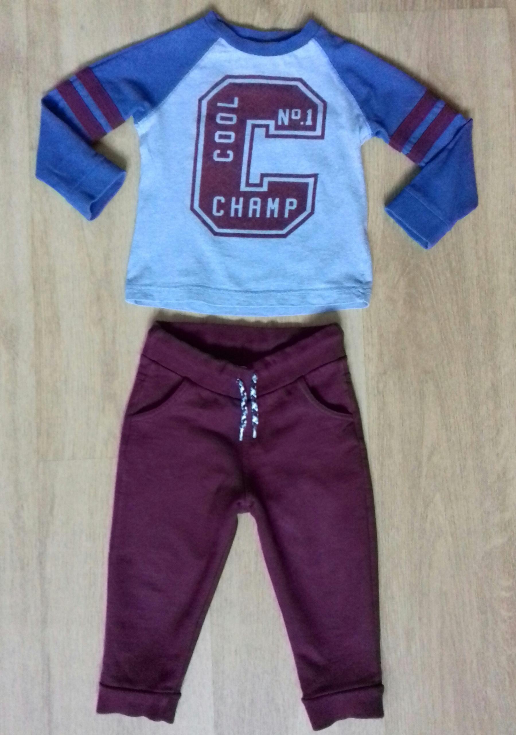 Komplet F&F bluzka spodnie 18m 1-1,5roku