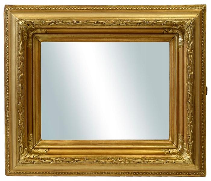 1878 r. Lustro w ozdobnej ramie 57x49 cm