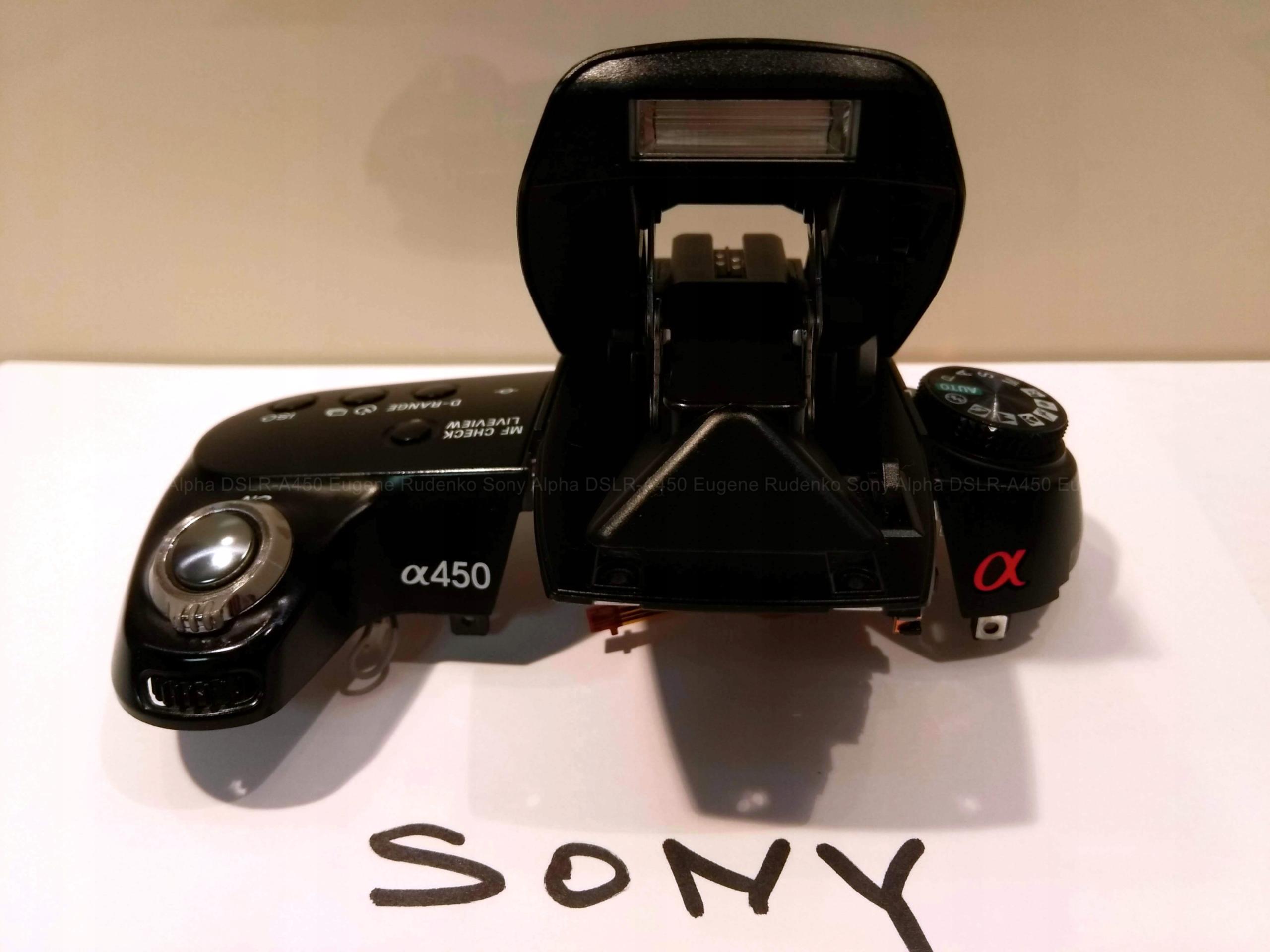 Górna obudowa lampa błyskowa Sony DSLR a550 a450