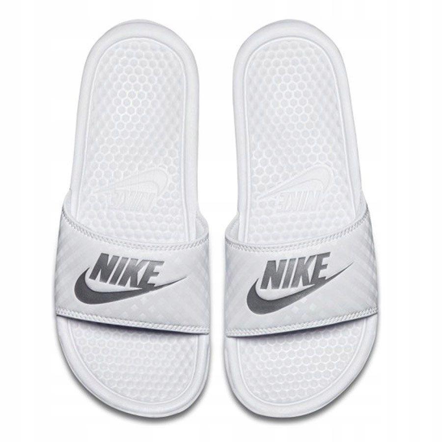 Klapki Damskie Nike Benassi Just Do It biał 36.5