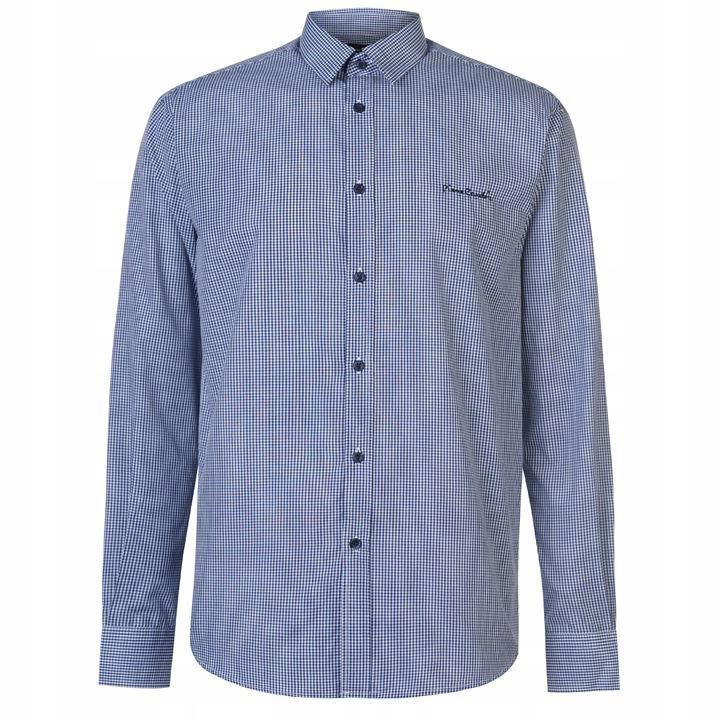 Pierre Cardin Koszula Męska Długi Rękaw Granat XL