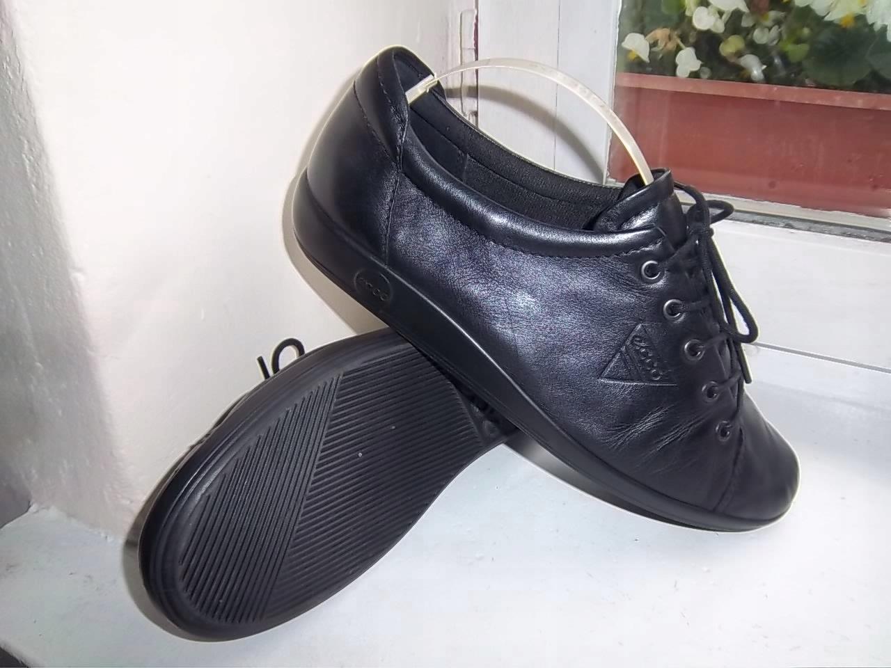 ECCO super buty skórzane r 39 dl.wkł.25cm CZARNE