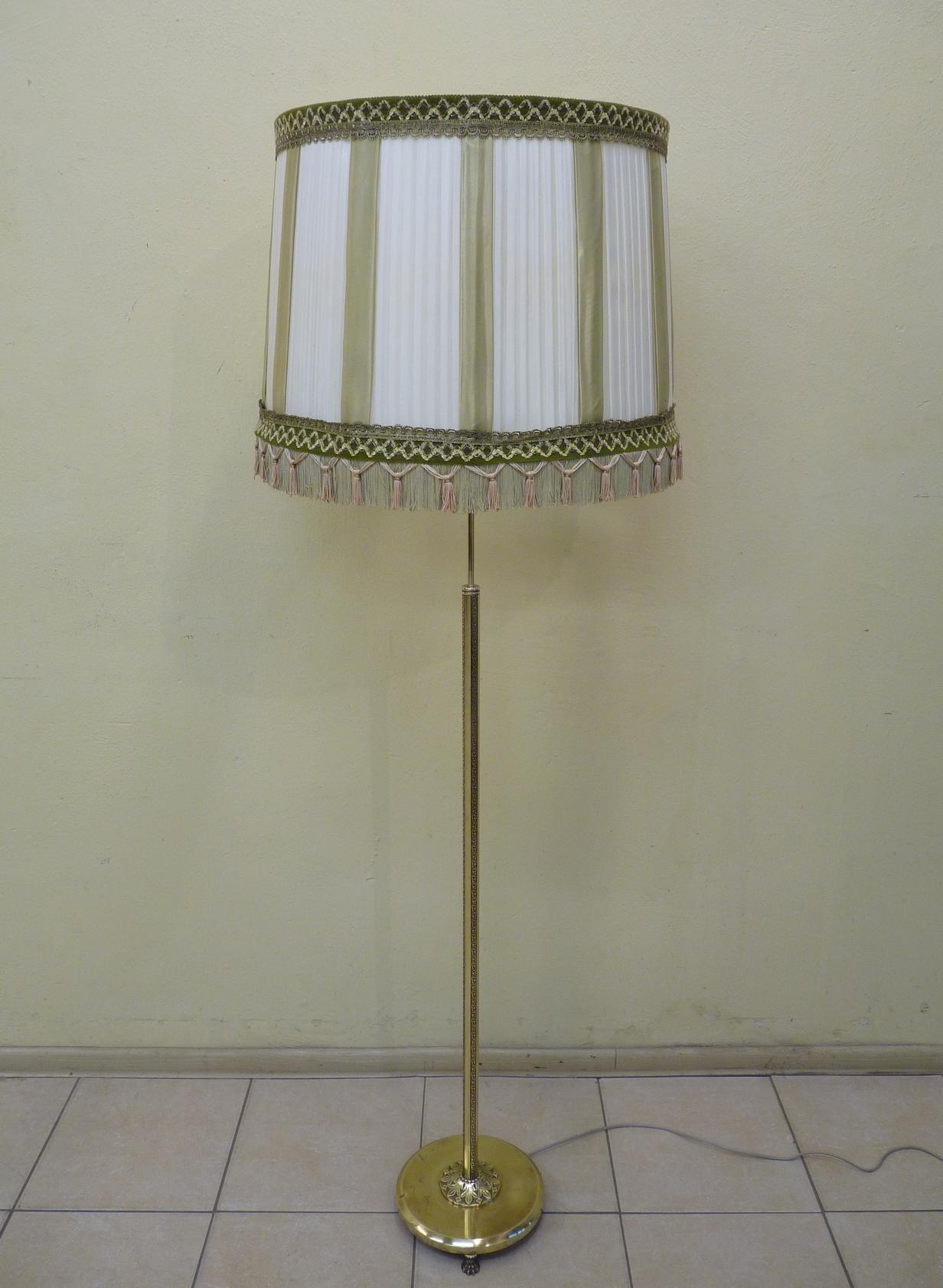 STYLOWA MOSIĘŻNA LAMPA STOJĄCA REGULACJA WYSOKOŚCI
