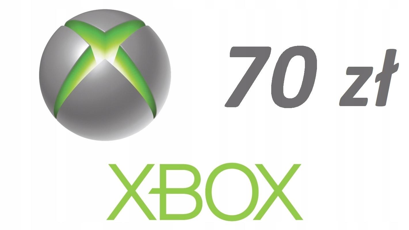 Karta Xbox 70 zł Microsoft Store One/360/PC