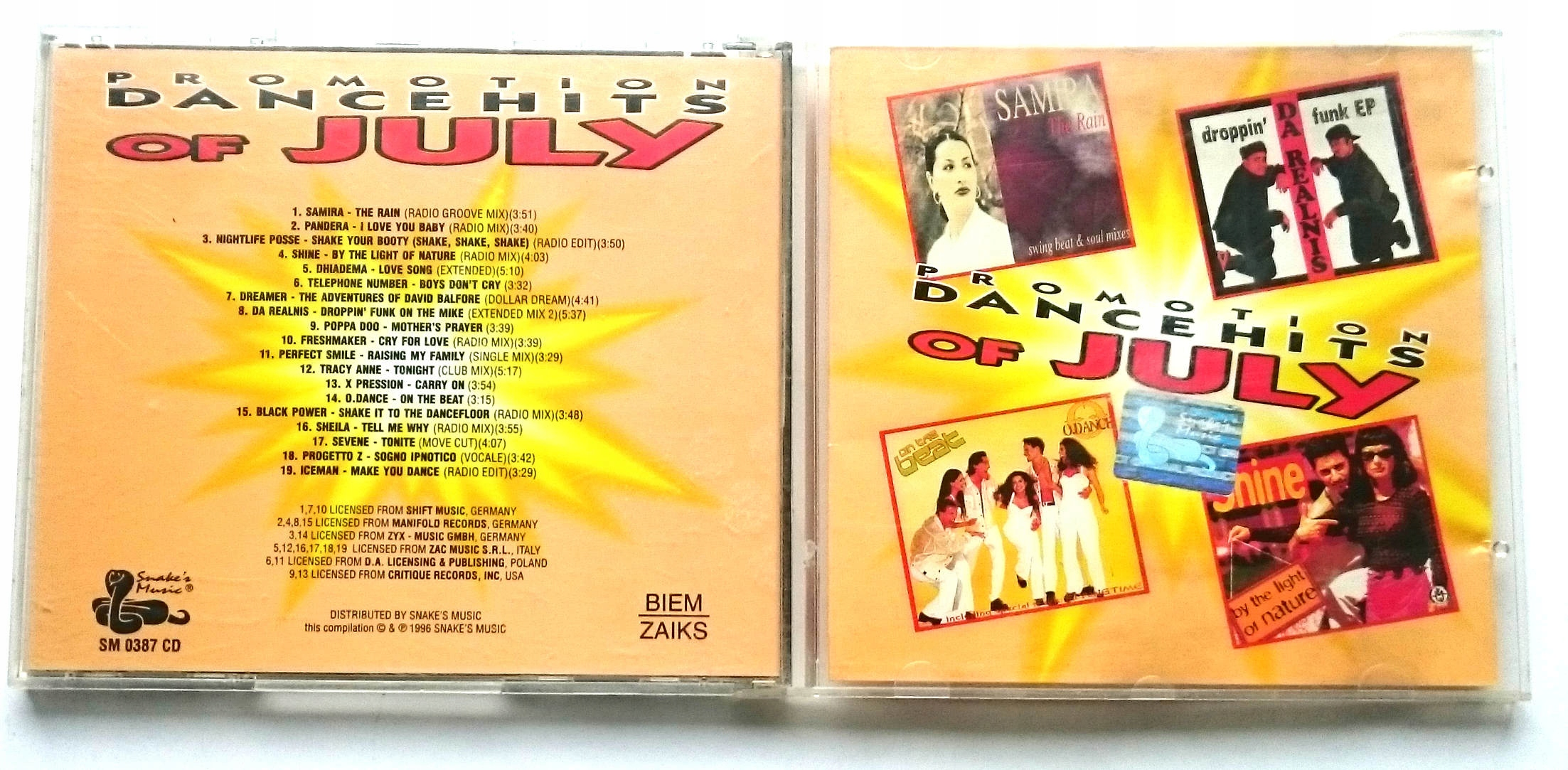 Various  Promotion Dance Hits Of July '96