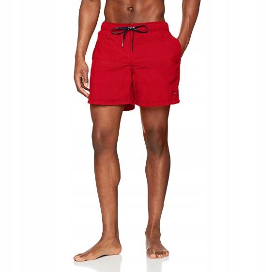 Tommy Hilfiger men spodenki kąpielowe czerwone S