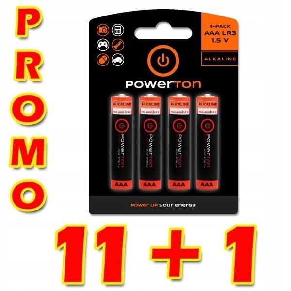 Bateria alkaliczna, AAA, 1.5V, Powerton, box, 12x4