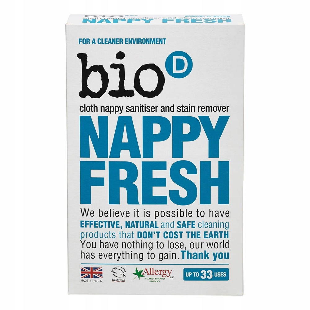 Antybakteryjny dodatek do prania Nappy Fresh Bio-D