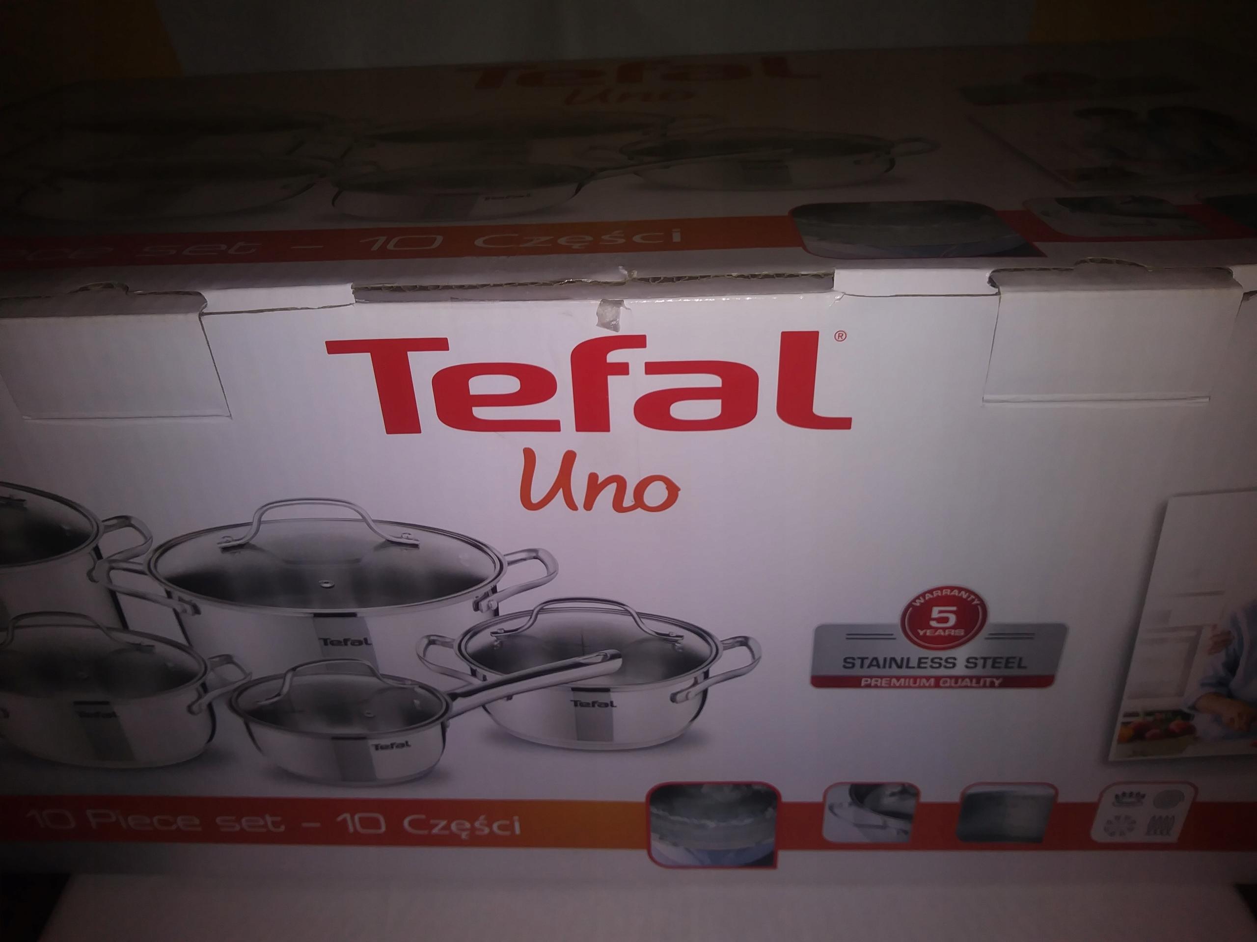 Tefal Uno - zestaw 10-częściowy (NOWY)