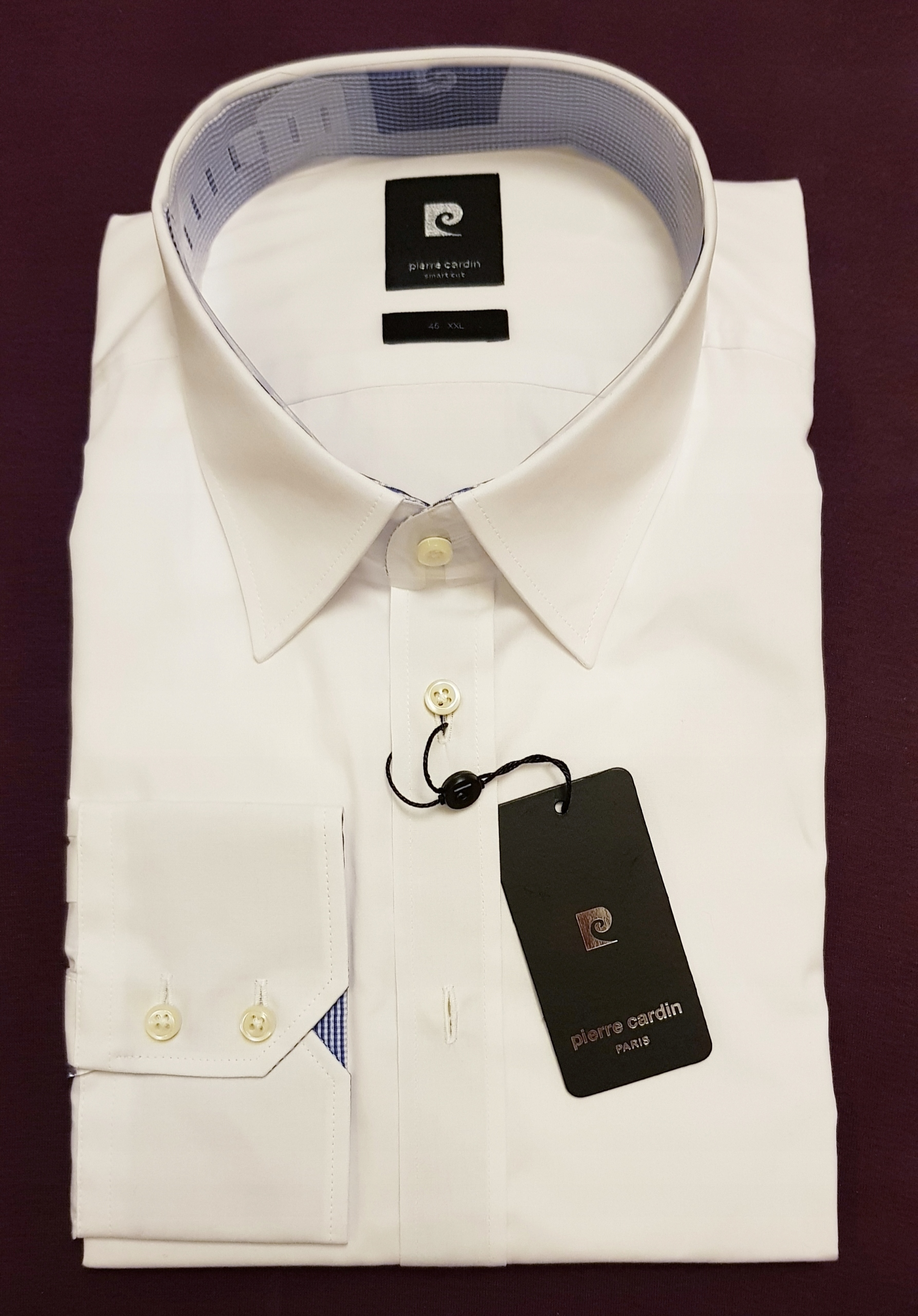 Pierre Cardin męska biała koszula XXL 45