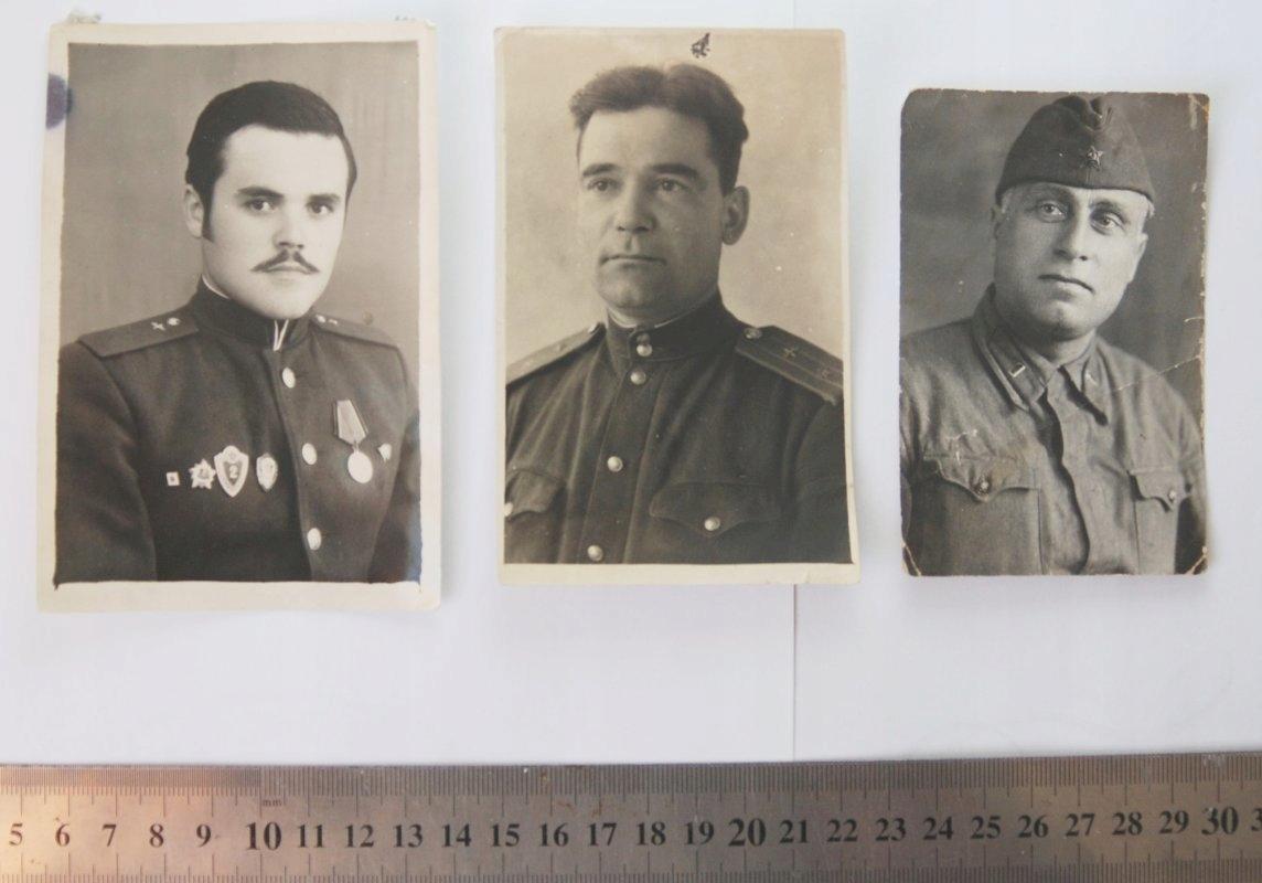 3 x Stara fotografia portret żołnierz Rosja ZSRR