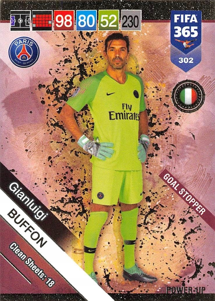 PANINI FIFA 365 2019 GOAL STOPPER 302 BUFFON