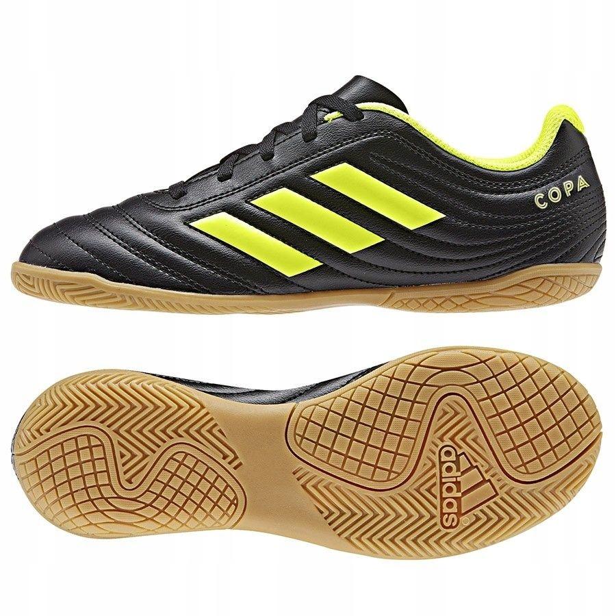 Buty adidas Copa 19.4 IN J D98095 - CZARNY; 36 2/3