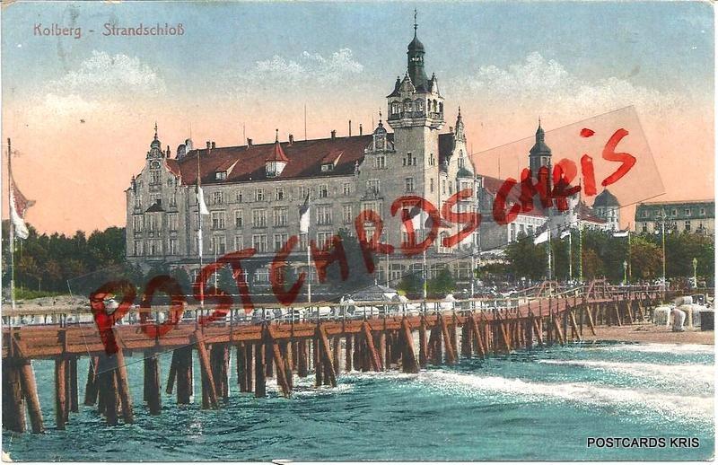 Kołobrzeg - Zamek - Molo -1917 r