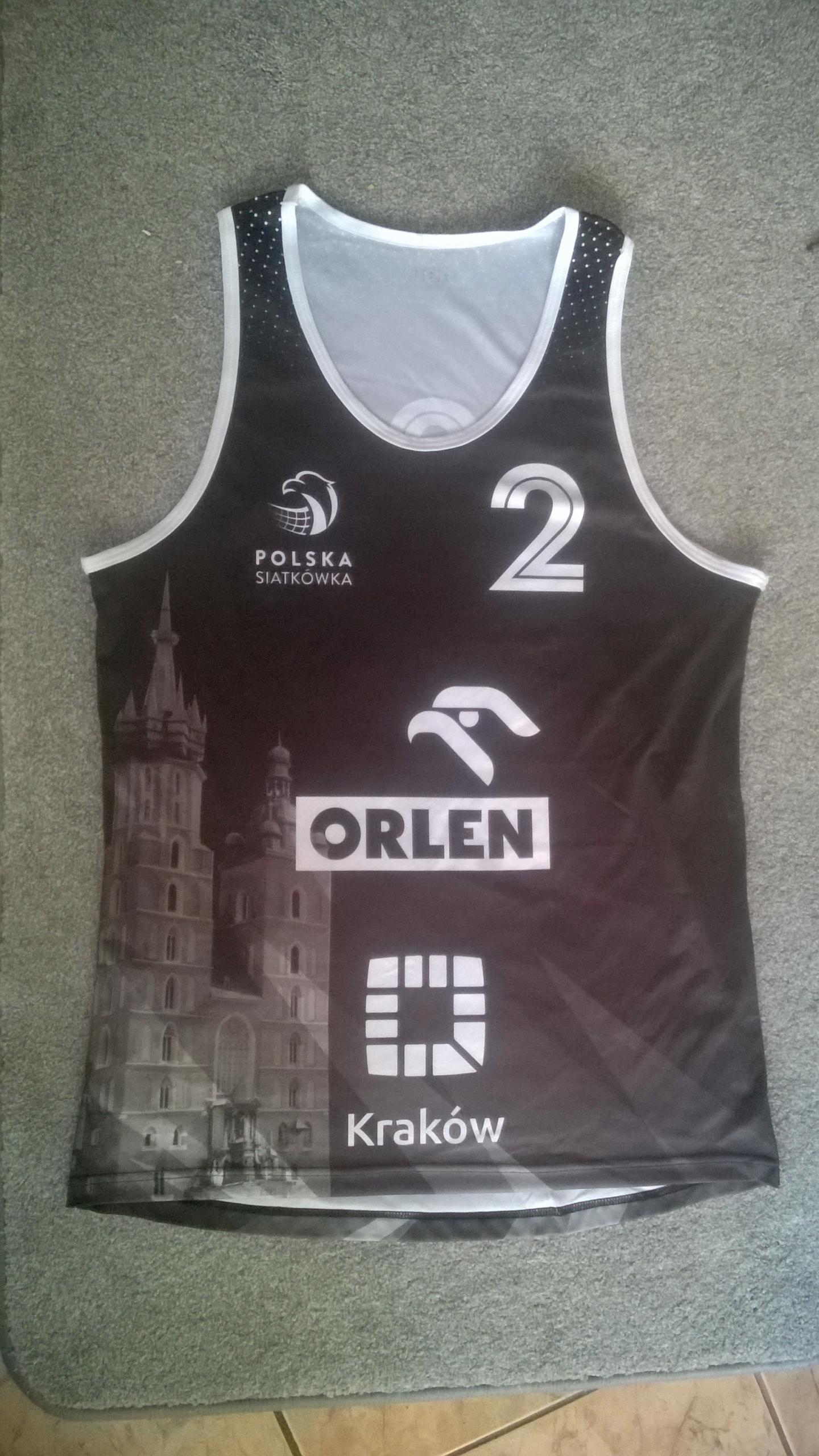Koszulka z Finału MP w siatkówce plażowej Kraków L