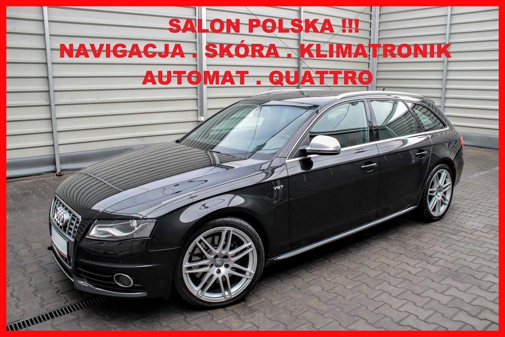 Audi S4 QUATTRO + AUTOMAT + Salon PL + Navigacja +
