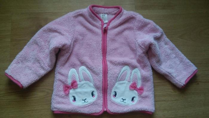 H&M kurtka bluza kurtka z króliczkiem r.92