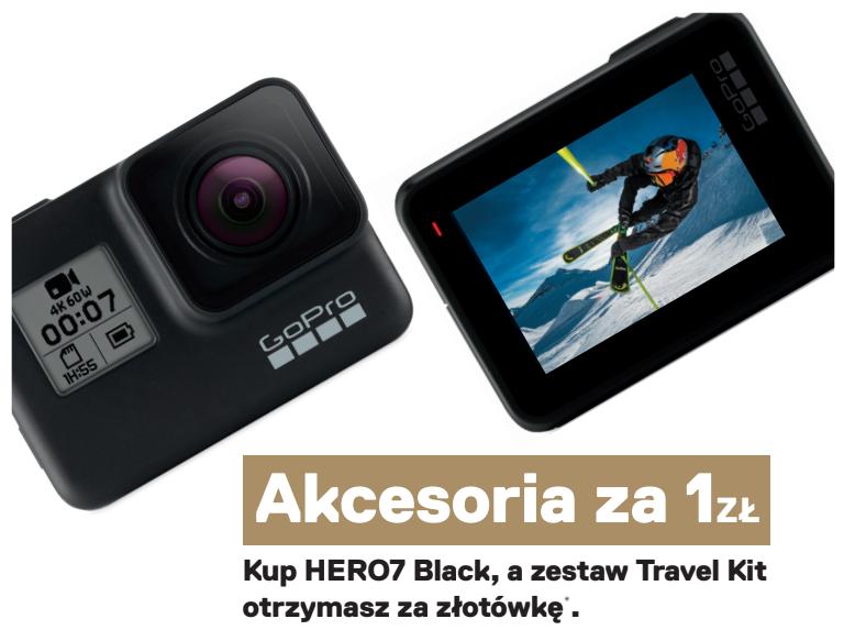 GoPro HERO 7 Black +TRAVEL Kit -PROMOCJA -sklep PŃ