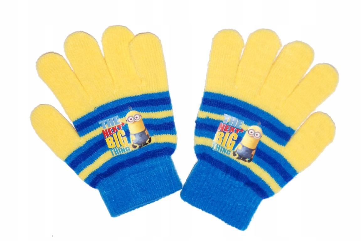 Rękawiczki zimowe akryl Disney 4-7lat MINIONKI W2